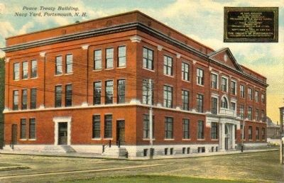 Peace Treaty Building - Portsmouth Navy Yard, 1912 image. Click for full size.