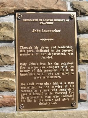Westwood Fire Department Memorial Marker image. Click for full size.