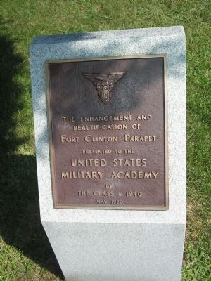 Fort Clinton Dedication Marker Photo, Click for full size