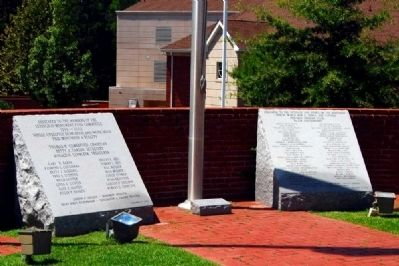 Lexington County Veterans Monument -<br>Dedication Inscriptions image. Click for full size.