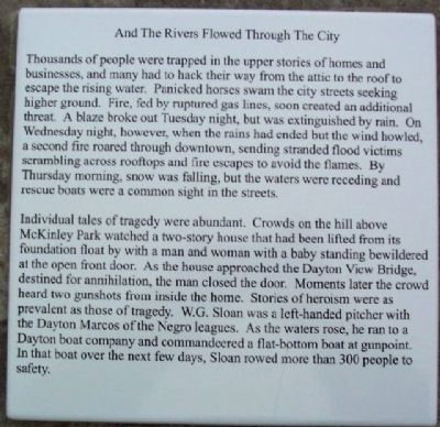 And The Rivers Flowed Through The City Marker image. Click for full size.