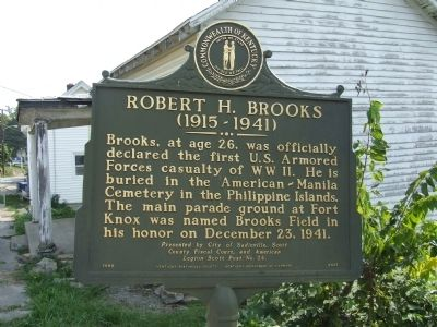 Robert H. Brooks Marker image. Click for full size.