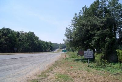 Where Booth Died Marker on US Rte 301 (facing south) Photo, Click for full size