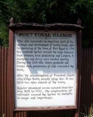 Port Royal Harbor Marker Photo, Click for full size