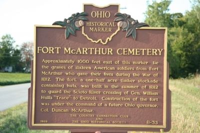Fort McArthur Cemetery Marker Photo, Click for full size
