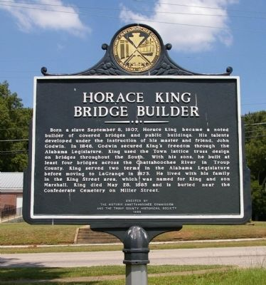 Horace King Bridge Builder Marker Photo, Click for full size
