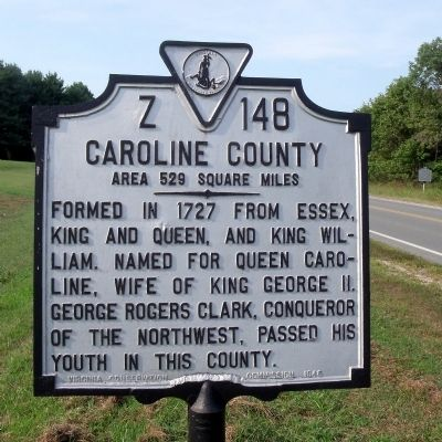 Caroline County Marker image. Click for full size.