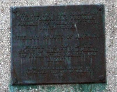 "1956 Presentation Plaque - ""Statue of Liberty"" copy image. Click for full size."