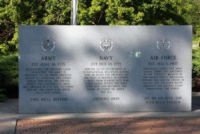 Left Panel - The Price of Freedom Marker Photo, Click for full size