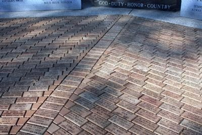 Just a few of the Many Bricks - With Names and Military Units Photo, Click for full size