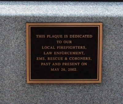 "Memorial to Civil Responders - on the ""911"" Memorial Photo, Click for full size"