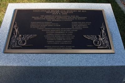 Dedication Plaque . . . Photo, Click for full size