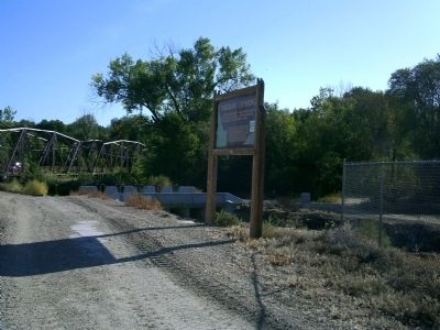 Emigrant Crossing Marker Off of Old Hwy 30 image. Click for full size.