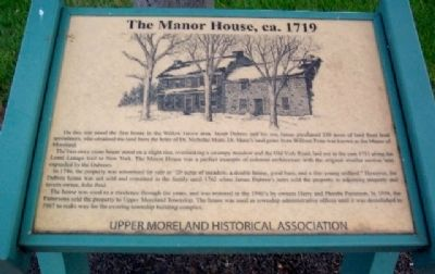 The Manor House, ca. 1719 Marker image. Click for full size.
