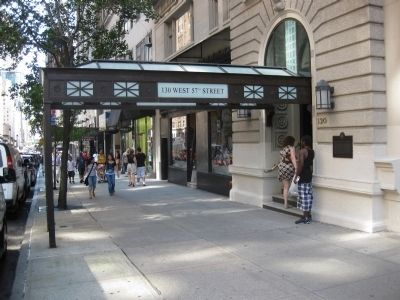 130 West 57th Street - Wide Shot Showing Entryway and Marker image. Click for full size.