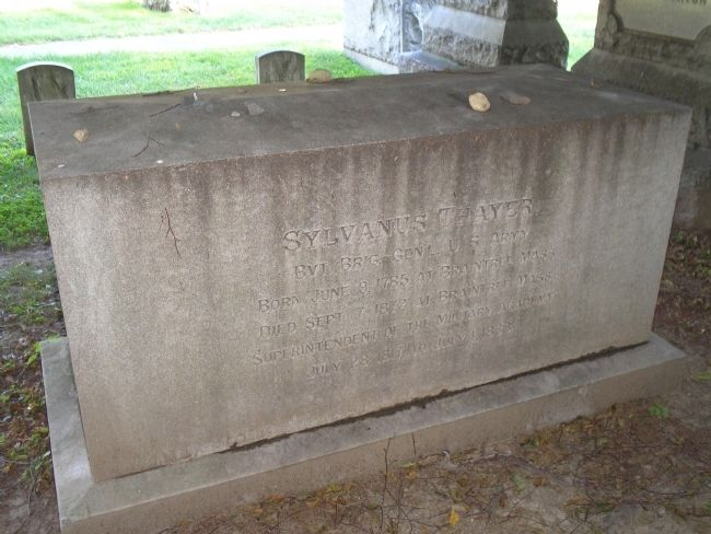 Grave of Sylvanus Thayer image. Click for full size.