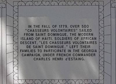 Haitian Monument Marker, east face Photo, Click for full size