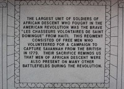 Haitian Monument Marker,north face Photo, Click for full size