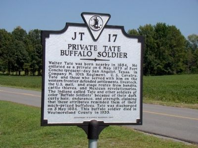 Private Tate, Buffalo Soldier Marker image. Click for full size.