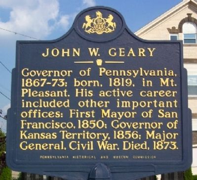 John W. Geary Marker Photo, Click for full size