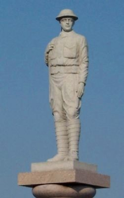 Mount Pleasant War Memorial Doughboy Statue image. Click for full size.