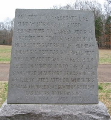 Back of Monument image. Click for full size.