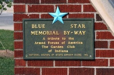 """Blue Star"" ""Memorial By Way"" Plaque - - On Left Panel End. image. Click for full size."
