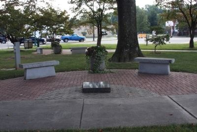 "Many ""Rest Areas"" in ""Congress Square""  - Orleans, Indiana . . . image. Click for full size."