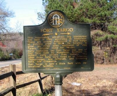 Fort Yargo Marker image. Click for full size.