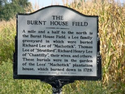 The Burnt House Field Marker image. Click for full size.