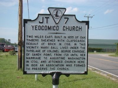 Yeocomico Church Marker Photo, Click for full size