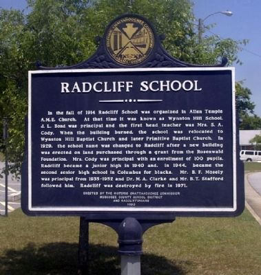 Radcliff School Marker image. Click for full size.
