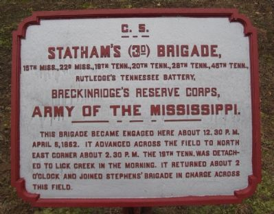 Statham's Brigade Tablet image. Click for full size.