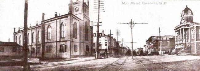 Panorama View of Main Street, Looking North -<br>Old Record Building in Far Right image. Click for full size.