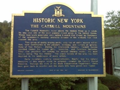 The Catskill Mountains Marker image. Click for full size.