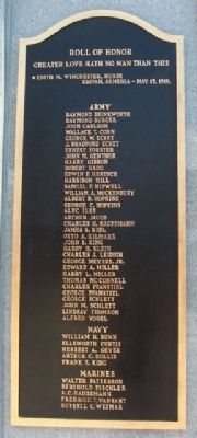 Fox Chase and Rockledge World War Memorial Roll of Honor image. Click for full size.