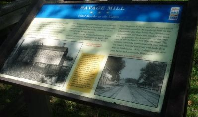 Savage Mill Marker image. Click for full size.