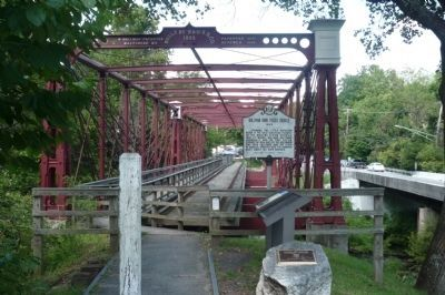 Savage Mill Marker - at the Bollman Iron Truss Bridge (1869) NHL image. Click for full size.