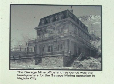 Savage Mining Co. Office and Mansion Photo, Click for full size