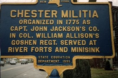 Chester Militia Marker image. Click for full size.
