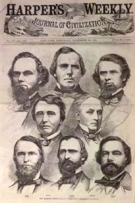 Harper&#39;s Weekly Cover<br>Members of the SC Congressional Delegation at the Time of Secession image. Click for full size.