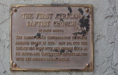 The First African Baptist Church Marker image. Click for full size.