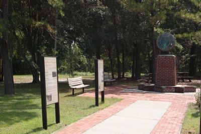 Walterboro Army Airfield Interpretive markers, as mentioned Photo, Click for full size