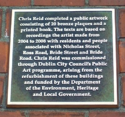 Chris Reid Oral History Artwork Project Marker Photo, Click for full size