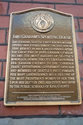 Lou Graham's Sporting House Marker image. Click for full size.