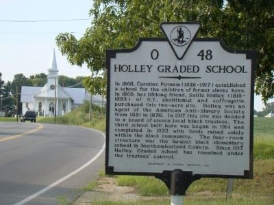 Holley Graded School Marker image. Click for full size.