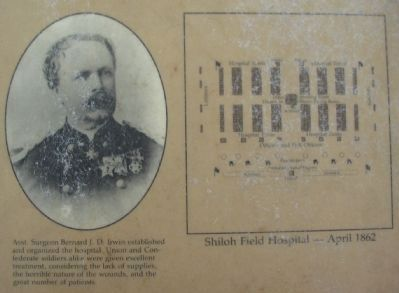 Close up of the Portrait and Field Hospital Layout Photo, Click for full size