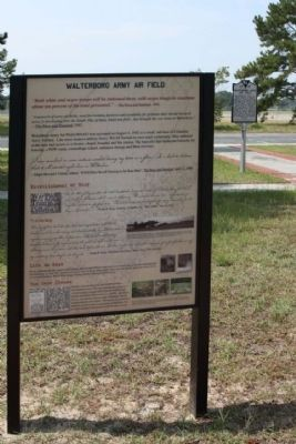 Walterboro Army Airfield Marker Photo, Click for full size