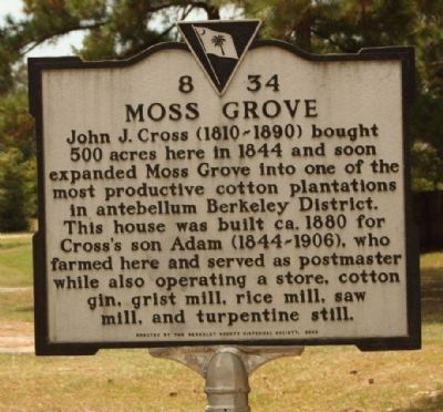 Moss Grove Marker image. Click for full size.