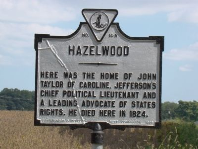 Hazelwood Marker image. Click for full size.